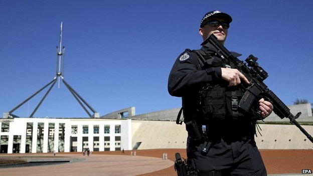 Security has been tightened across Australia recently, including outside parliament