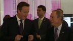 David Cameron and Michael Bloomberg