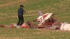 Crashed plane in Bedfordshire