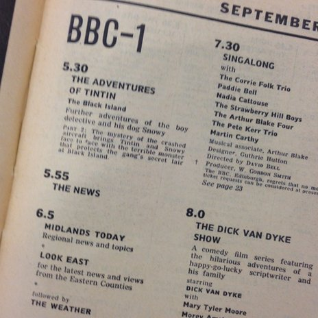 Radio Times page previewing first broadcast for BBC Midlands Today on 28 September 1964