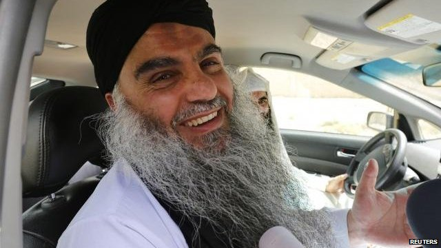 Abu Qatada after his acquittal in Jordan on 24 September 2014