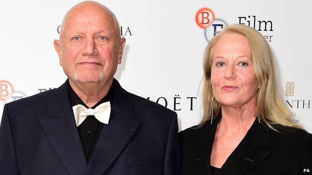 Steven Berkoff and his wife Clara Fischer