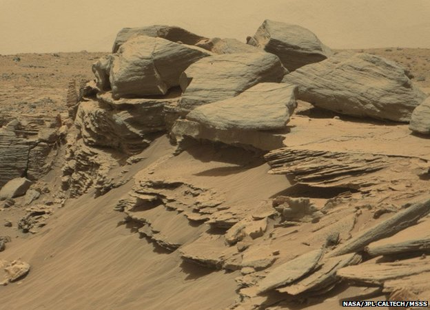 Curiosity image of rocks