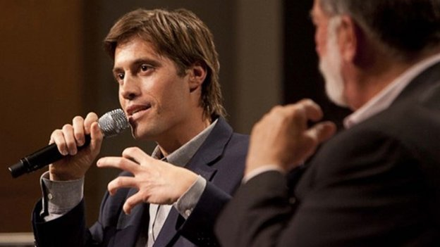 US journalist James Foley speaks at Northwestern University's Medill School in this 2011 handout photo provided by Northwestern University.