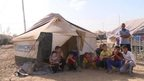 Refugees at Baharka camp in Erbil