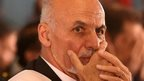 "Ashraf Ghani prepares for a speech after emerging as Afghanistan""s president-elect this month"