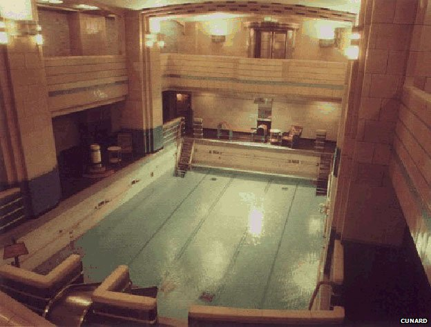 Queen mary liner that helped launch monster cruise ships - Queen mary swimming pool victoria ...