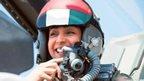 Female UAE pilot Mariam al-Mansouri