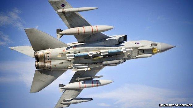 RAF Tornado in flight