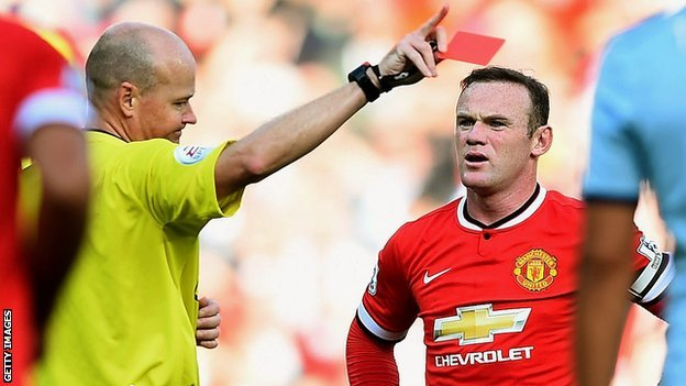 rooney red card