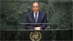 Russia's Foreign Minister Sergei Lavrov addresses the 69th United Nations General Assembly