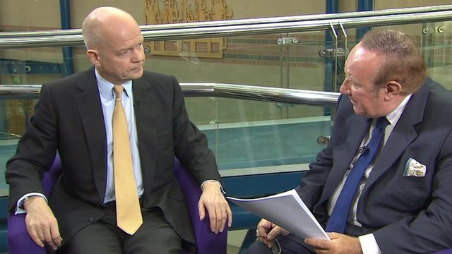 William Hague and Andrew Neil