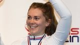 Jess Varnish celebrates her win
