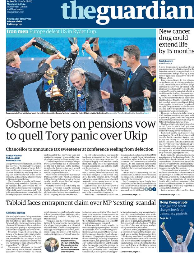 The Guardian front