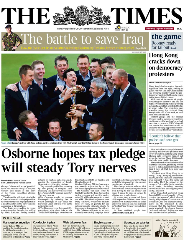 The Times front