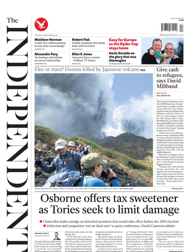 The Independent front