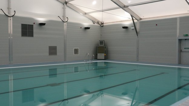 Temporary swimming facility for dumfries nears completion - Swimming pools in dumfries and galloway ...