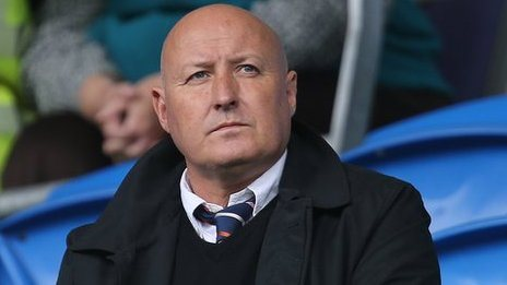 Prospective new Bluebirds boss Russell Slade was at Cardiff City Stadium for the Sheffield Wednesday game