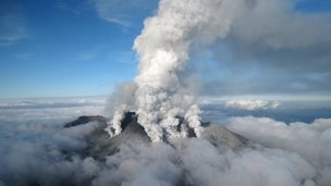Aerial picture of volcano (27 Sept)