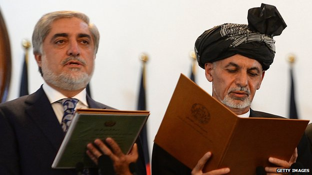 Afghan President Ashraf Ghani and chief executive Abdullah Abdullah
