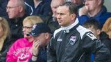 Derek Adams in the Ross County dugout