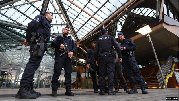 Armed guards in Antwerp