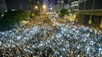 VIDEO: Hong Kong protesters defy warnings