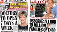 Composite image of Express and Mirror front pages