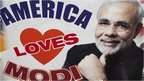 America Love Modi sign