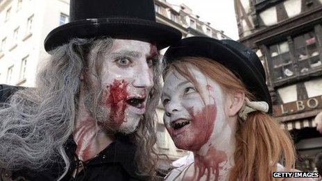 People dressed as zombies