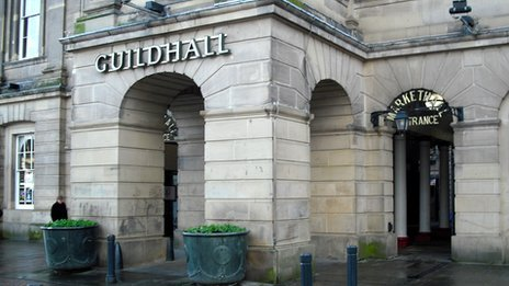 Guildhall market in Derby