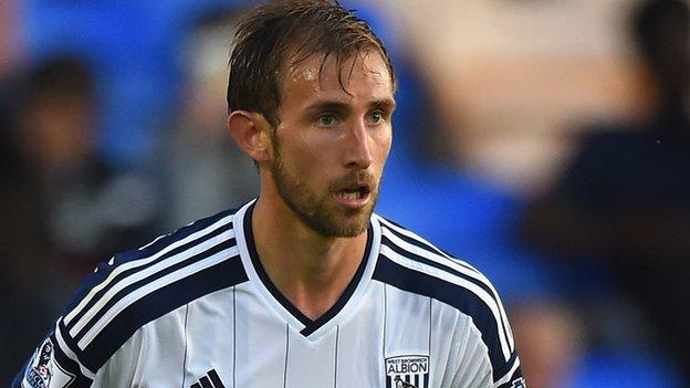 West Bromwich Albion defender Craig Dawson