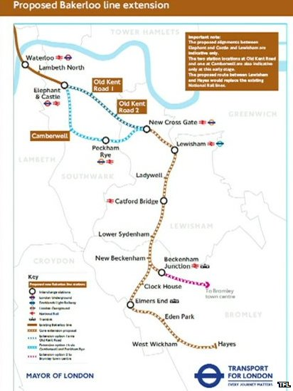 Proposed Bakerloo extension