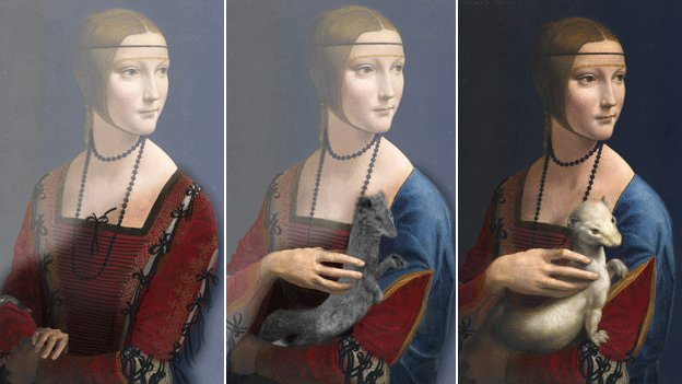 Lady with an Ermine painting