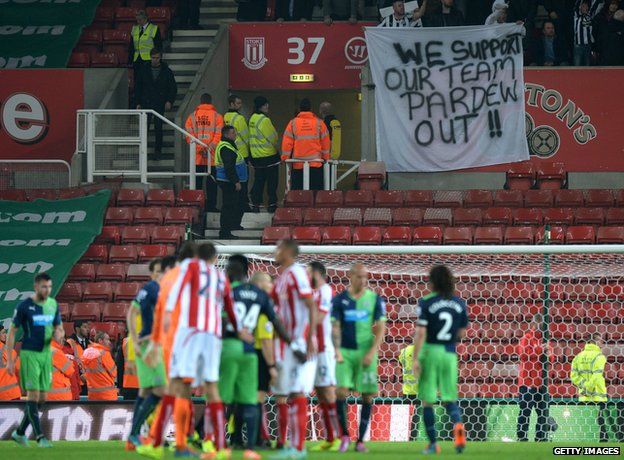 Fans at the Stoke match