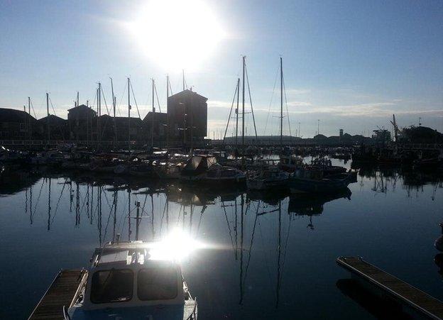 Roker marina in Sunderland