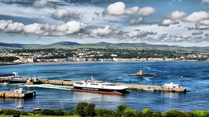The Manannan fast-craft in Douglas harbour