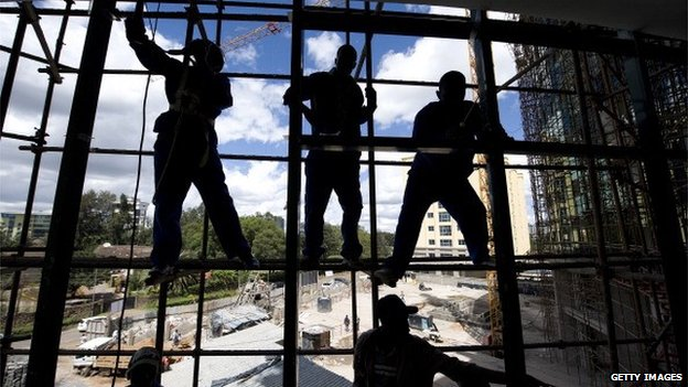 Construction workers in Nairobi
