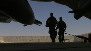RAF pilots at Kandahay Airfield, Afghanistan