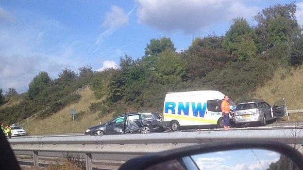 M53 crash