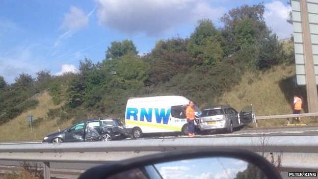 Crash on the M53