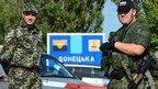 Pro-Russian rebels at Ukraine-Russia border, file pic