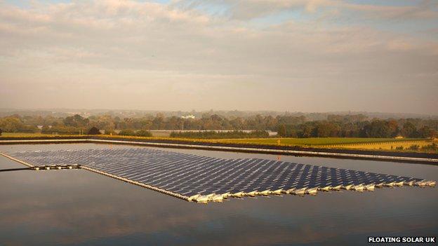 Wargrave Farm Unveils First Floating Solar Panels Bbc News
