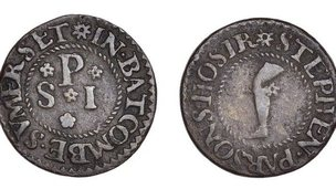The unique Farthing from Batcombe, near Shepton Mallett struck by Stephen Parsons