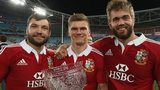 Alex Corbisiero, Owen Farrell and Geoff Parling