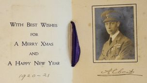 Prince Albert sent Admiral Tait a Christmas card in 1916