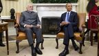 President Barack Obama meets with Indian Prime Minister Narendra Modi, 30 September 2014