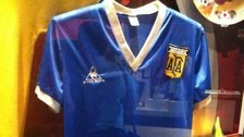 A shirt belonging to Diego Maradona