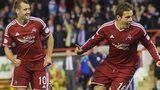 Peter Pawlett celebrates putting Aberdeen 2-0 up