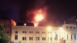 Fire at former Majestyk nightclub